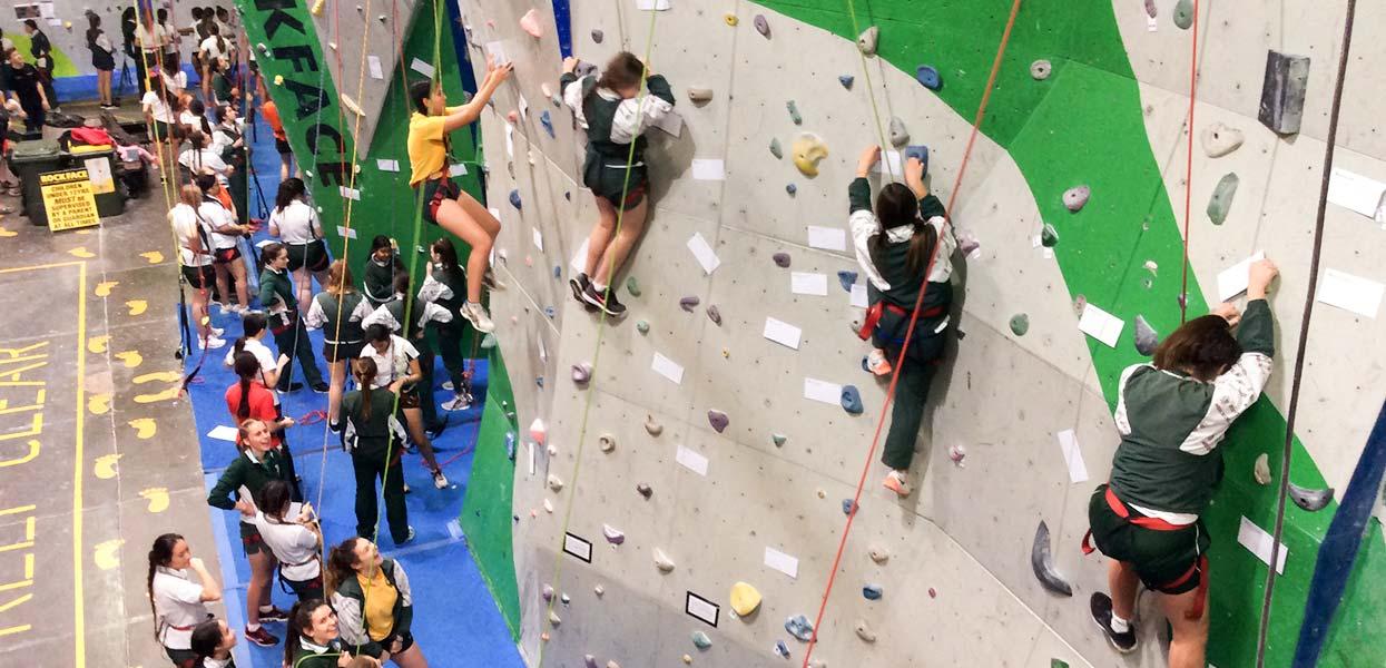 Indoor Rock Climbing School Group Bookings